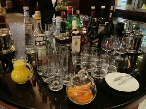 Grand Hyatt Club Bar Selections