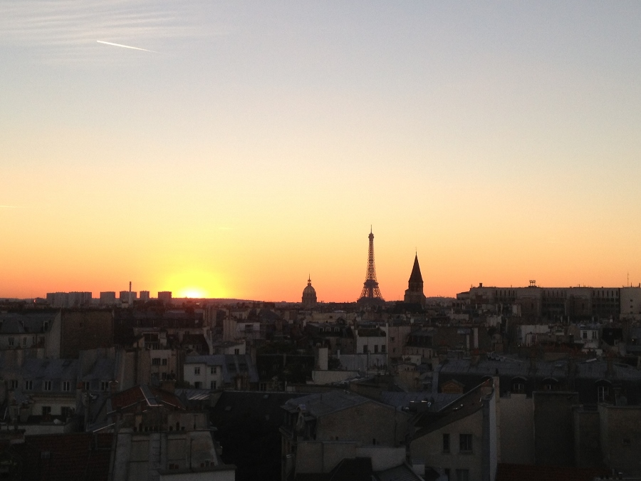 Sunset from the Holiday Inn Notre Dame