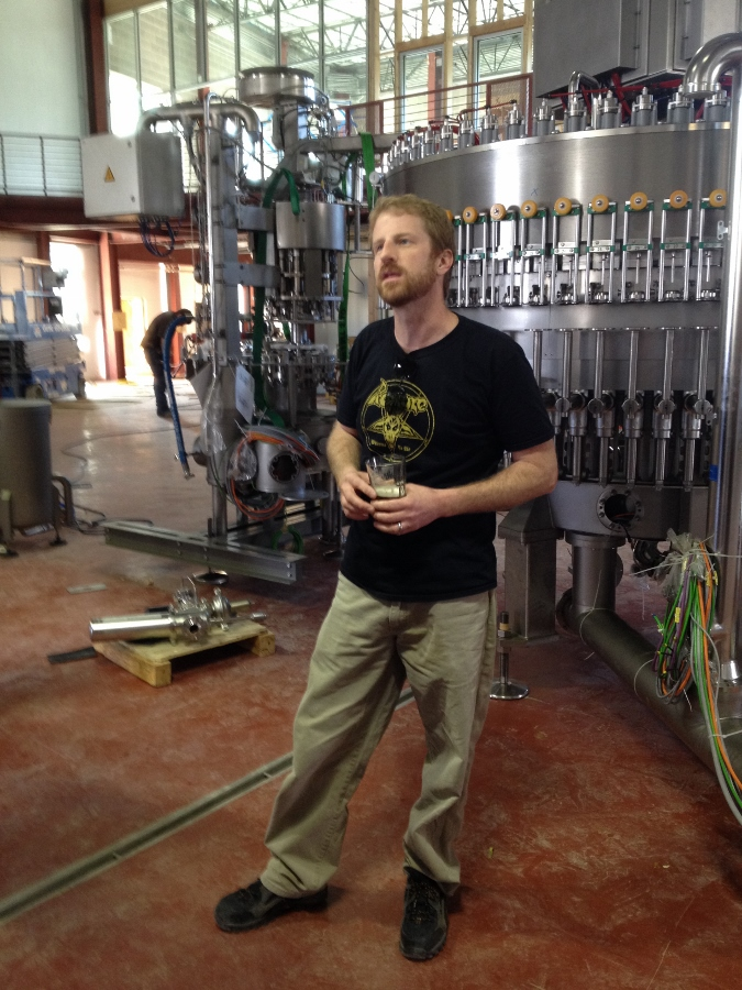 Ty Phelps explains the brewing process