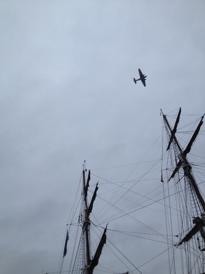 Lufthansa Junkers J52 Flying over our Ship