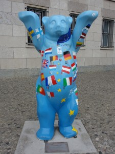 Berlin Bear near the Berlin Wall