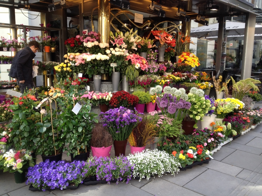 Flower Stall in Vienna City Center