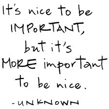 just be nice