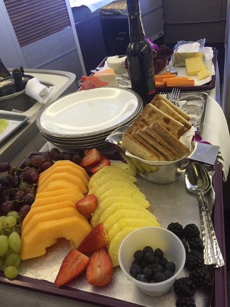 Thai Airways Cheese and Fruit