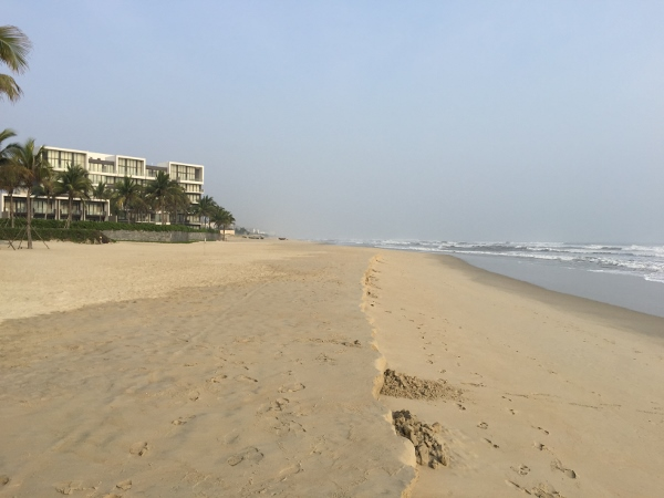 Beach in front of the Hyatt Da Nang