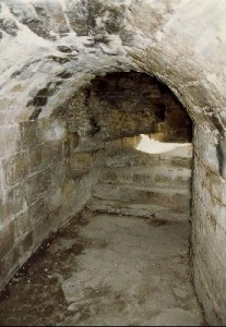 Vaulted Walkway and Stairs - Flint Castle