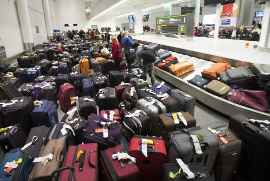 Heathrow Baggage Backup - Daily Mail