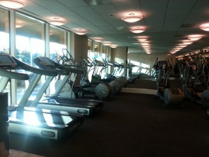 Gym at the Trump hotel
