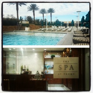 Spa and outdoor pool