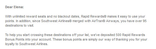 southwest free points