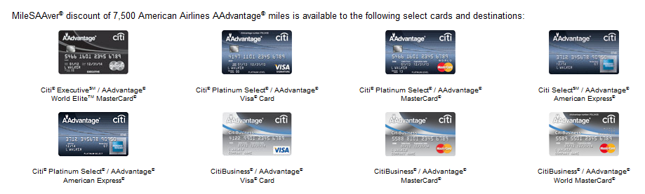 CitiAA credit cards