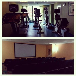 Gym & Movie theater