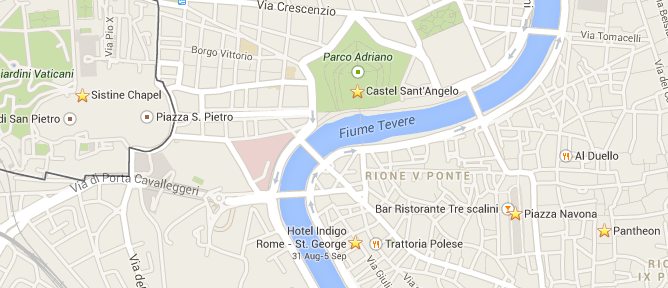 Hotel Indigo Rome Location