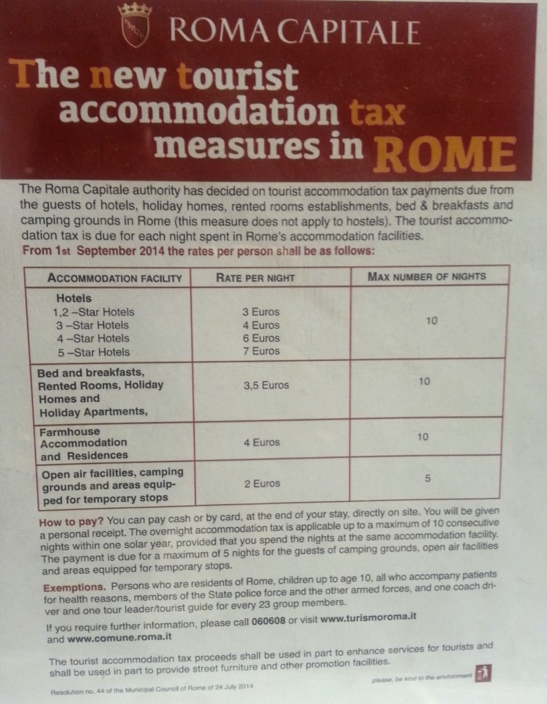 Rome Accomodation Tax