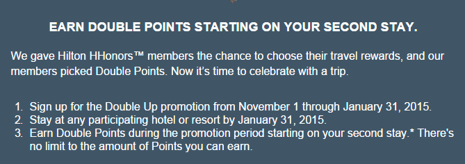 Hilton double points promo