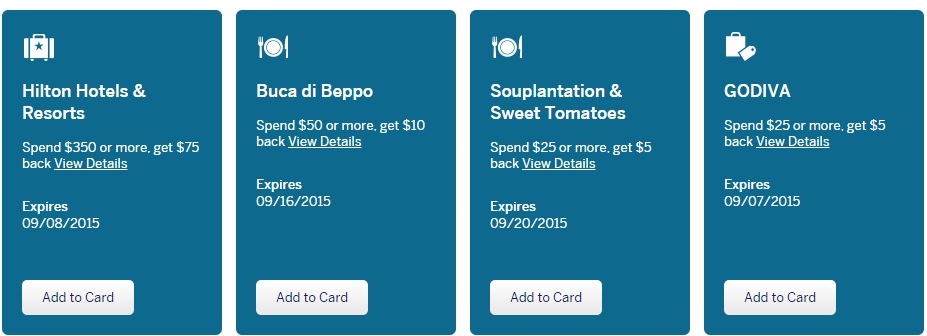 Amex offers examples