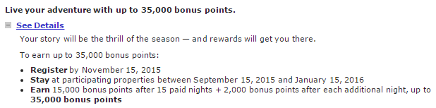 Marriott Mega Bonus Fall 2015