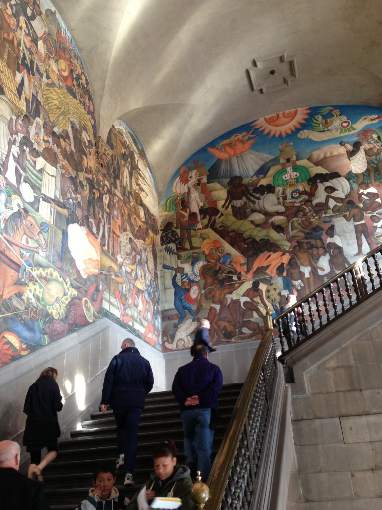 Murals of Diego Rivera in the National Palace in Historico Centro