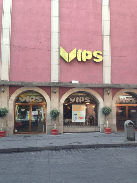 VIPS restaurant chain in Mexico City