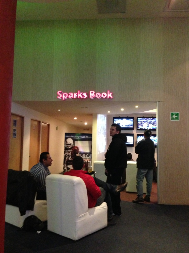 Sparks Book at Sparks Casino in Zona Rosa