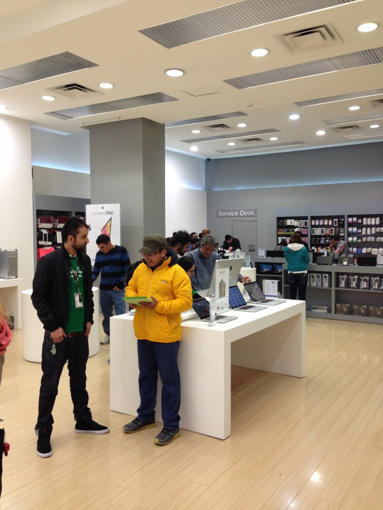 View of the fake Apple Store (iShop) in Reforma 222 Mall