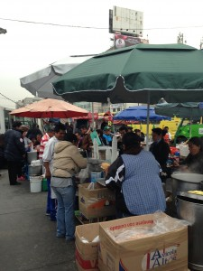 Street vendors in Mexico City