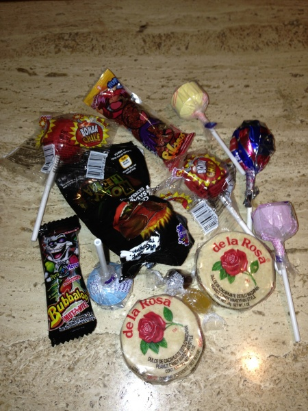 a variety of Mexican candy