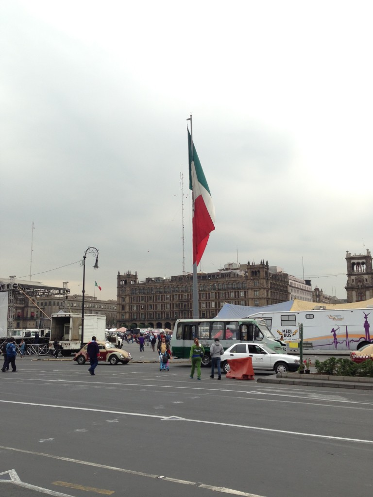 The Zocalo in Centro Historico