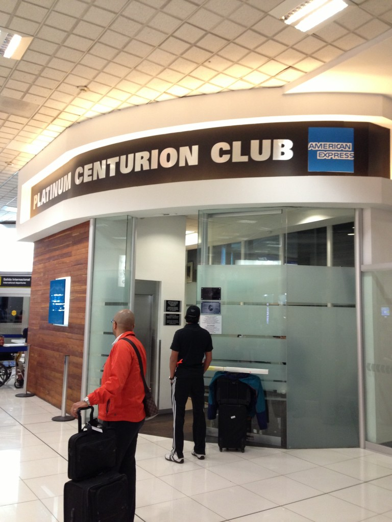Entrance to the Platinum Centurion Club Lounge in MEX