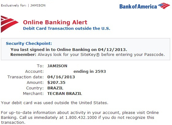 withdraw money from bank of america credit card