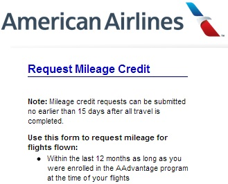 How To Request Mileage Credit With American Airlines On A Oneworld ...