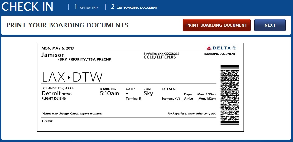 delta check in online no boarding pass