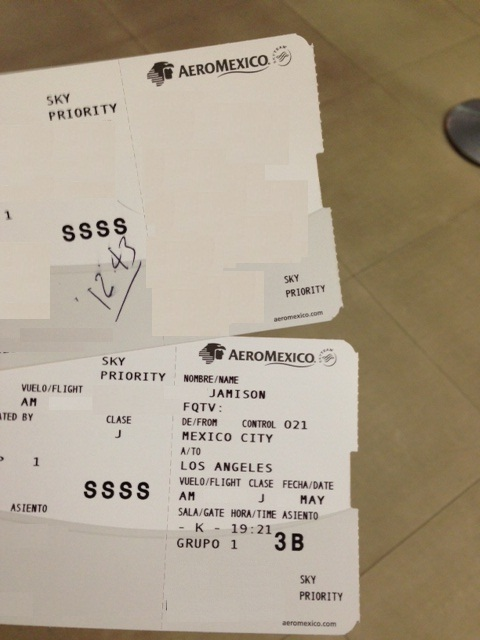 SSSS (secondary screening) on my boarding pass