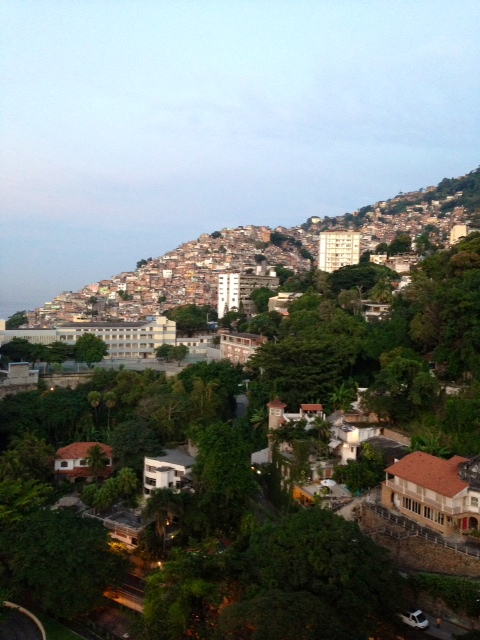 View of the Favelas from the Sheraton Rio