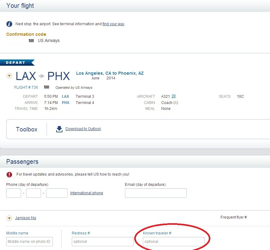 American Airlines Add Known Traveler Number After Check In