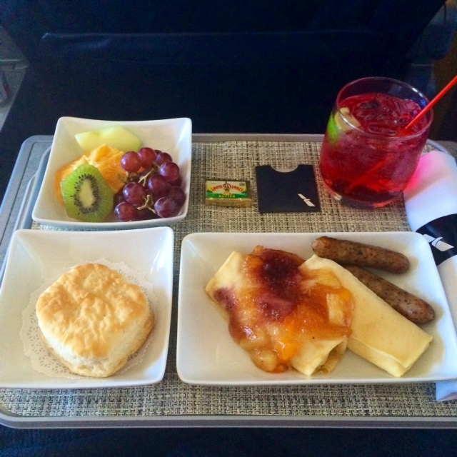 My impressions of the new american airlines first class for American continental cuisine