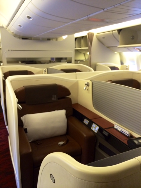 Japan Airlines NRT-LAX 777-300ER First Class - Points Summary