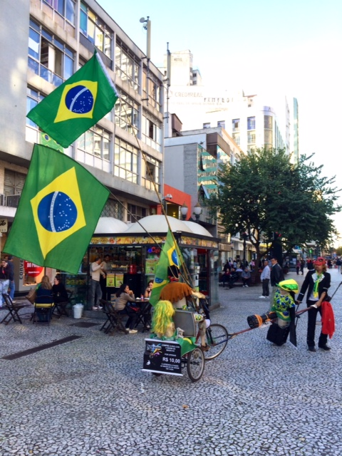 The Sights And Sounds Of Rua Das Flores In Curitiba Brazil