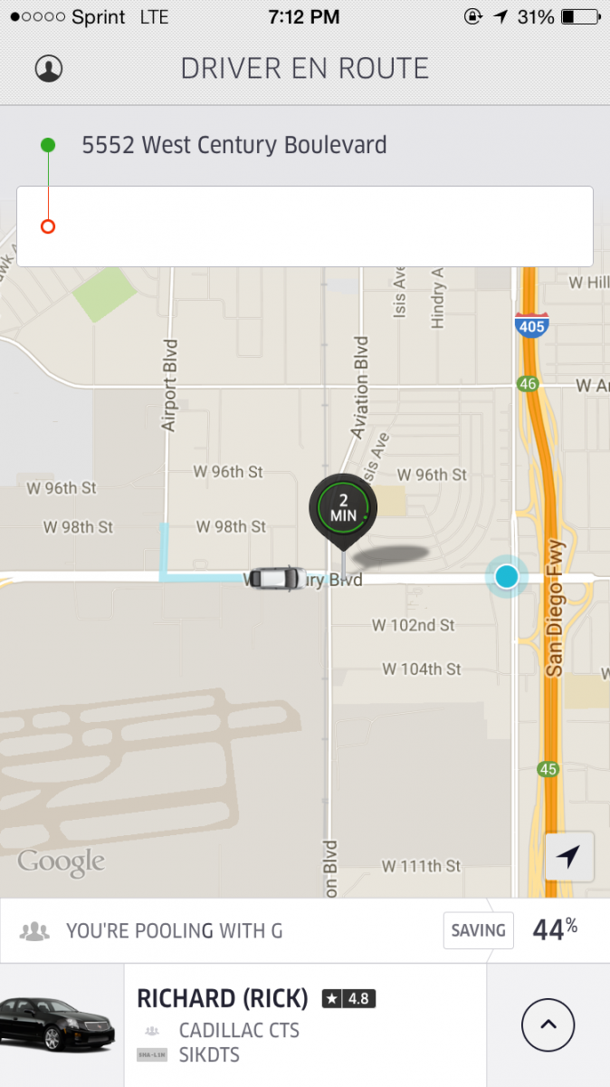 My Experience Using UberPOOL To Get From LAX Airport To Downtown - Uberpool los angeles map