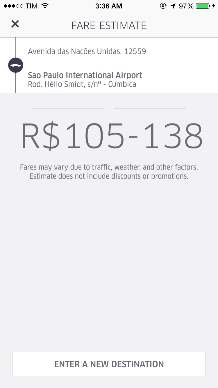 Uber Price Quote >> My Experience Using Uber To Get From Sao Paulo To Guarulhos