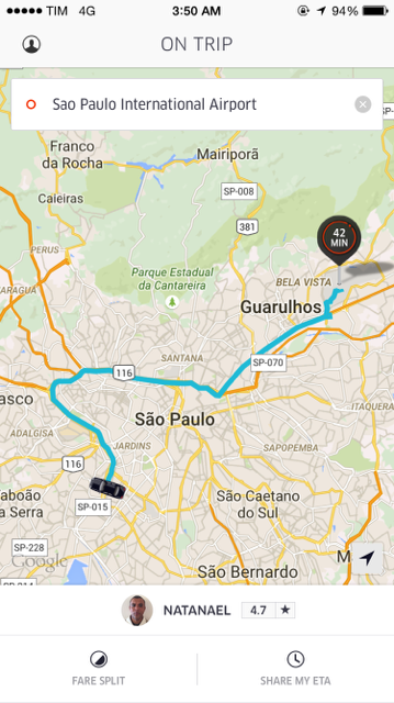 My Experience Using Uber to Get From Sao Paulo to Guarulhos