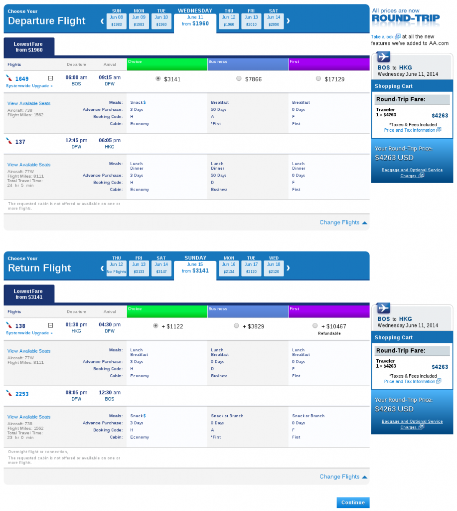 Reservations   Book Flights   Select Flights   Results