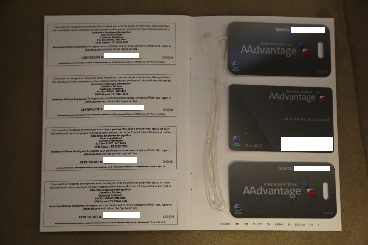 American Airlines Executive Platinum Package 2014