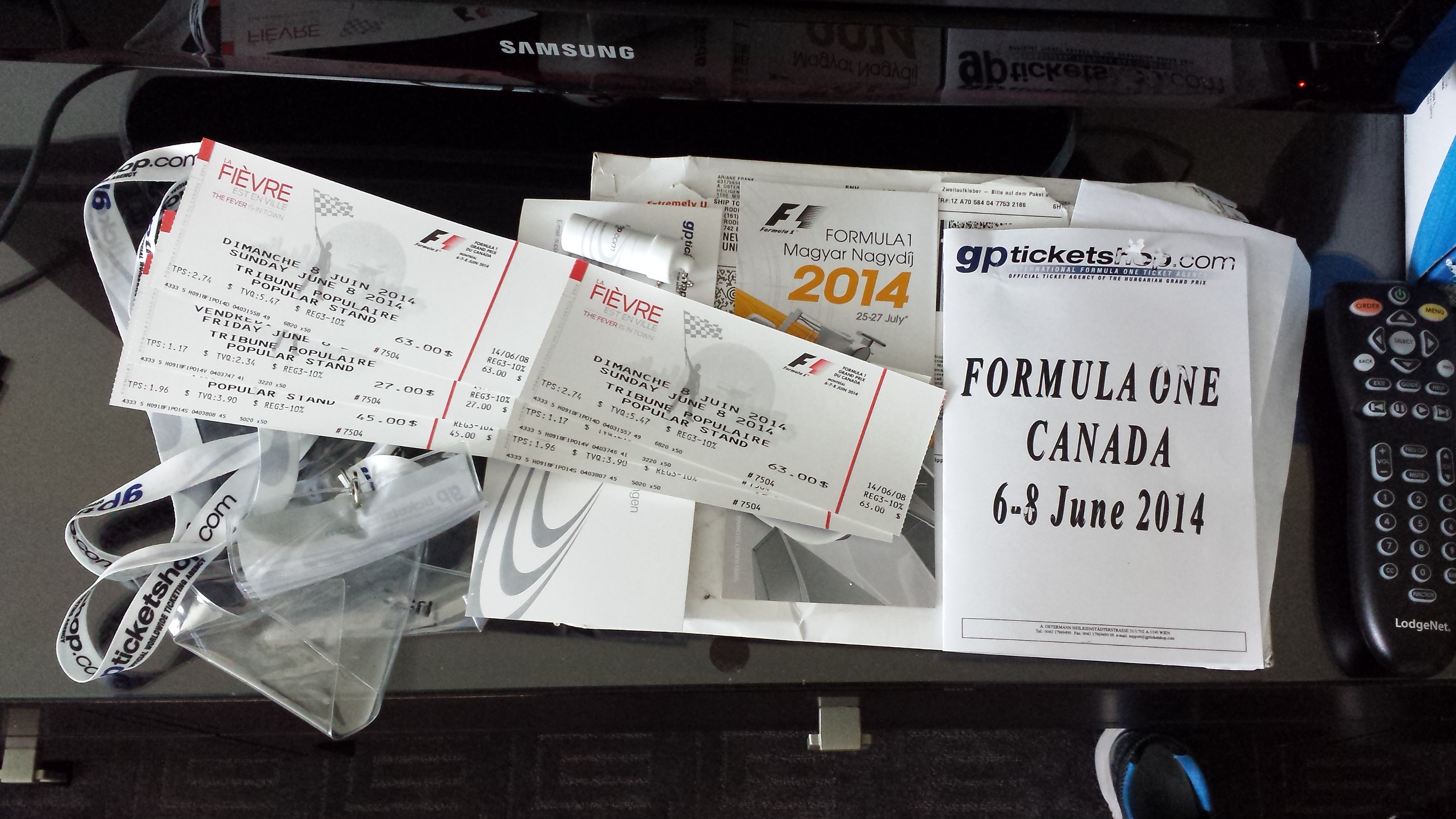 2014 Montreal F1 Grand Prix Tickets
