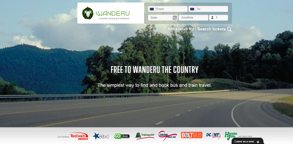 Copyright: Wanderu Website
