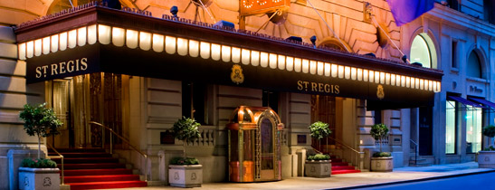 The St Regis New York Hotel: Copyright Starwood Hotels and Resorts