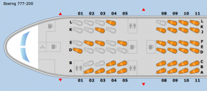 Seating Chart 4 Hours Prior to Departure