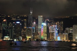 Hong Kong Night Light Show