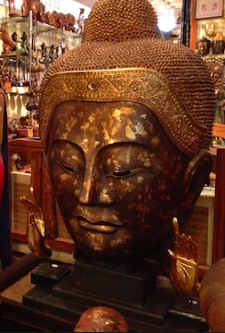 Buddha head for sale, illegally