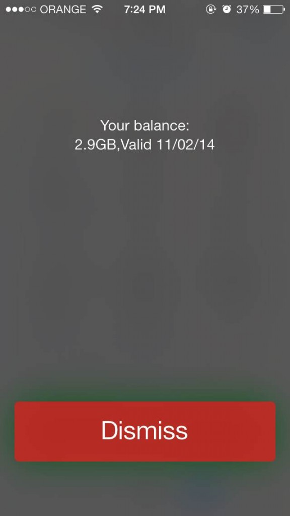 Dial *111# for a balance update. My dad, who only has call credits, has a monetary balance show up on his instead of a remaining data balance.